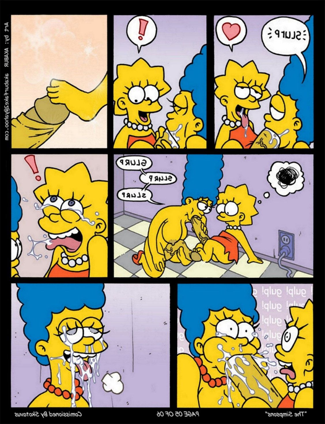 Marge and lisa simpson porn