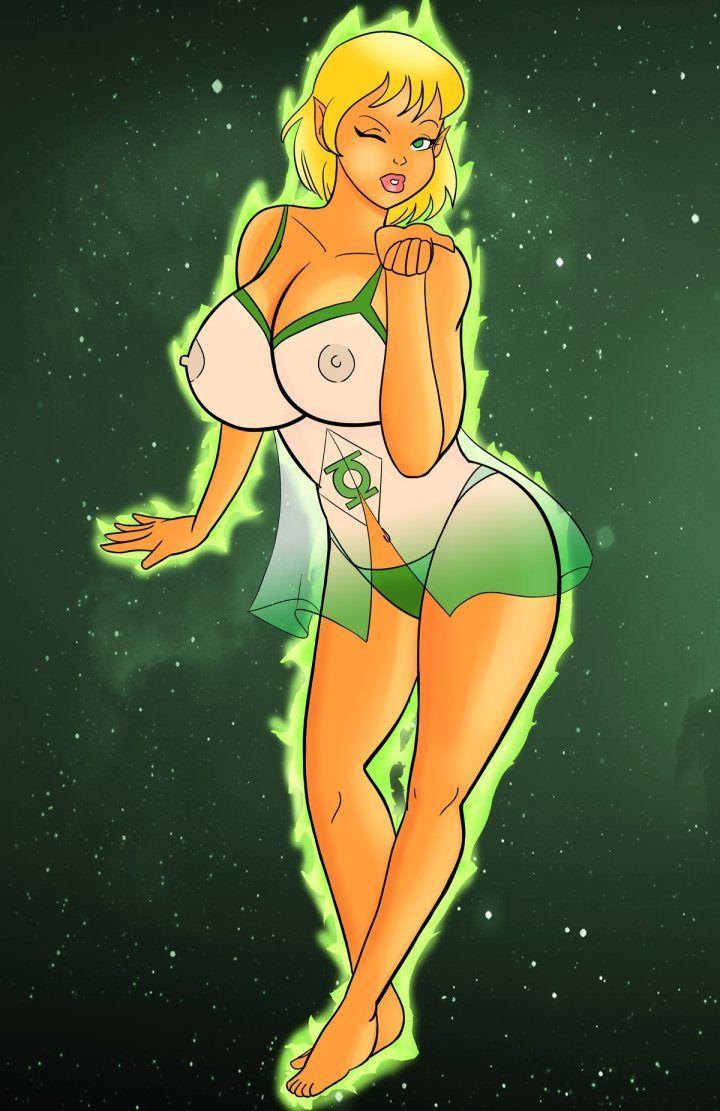 half nude girl