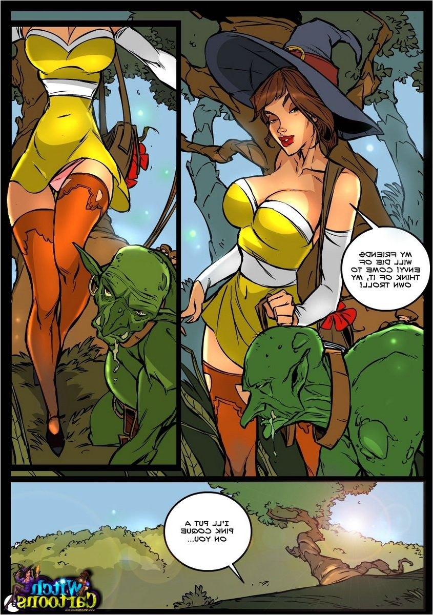 Sexy witch cartoon porn comics